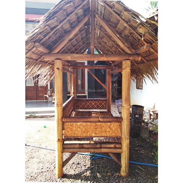 gazebo bambu sederhana